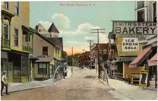 Lower Main Street ~ Granville, NY 1900's