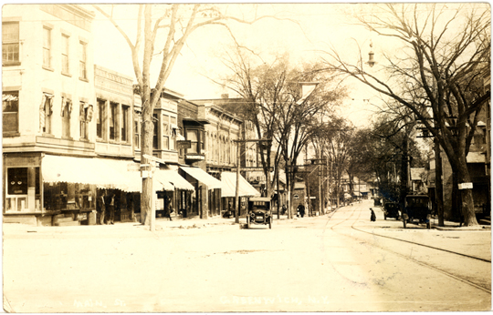 Main Street ~ Greenwich, New York ~ 1921
