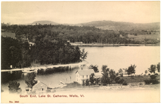 South end of lake ~ Lake St. Catherine ~ Wells, VT ~ 1910