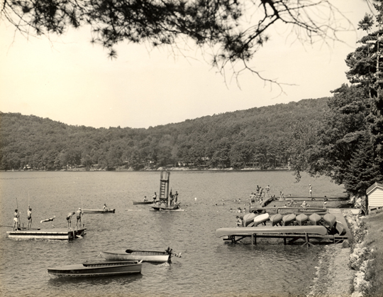 Camp Arrowhead Docks ~ Lake St Catherine, VT ~ 1950's