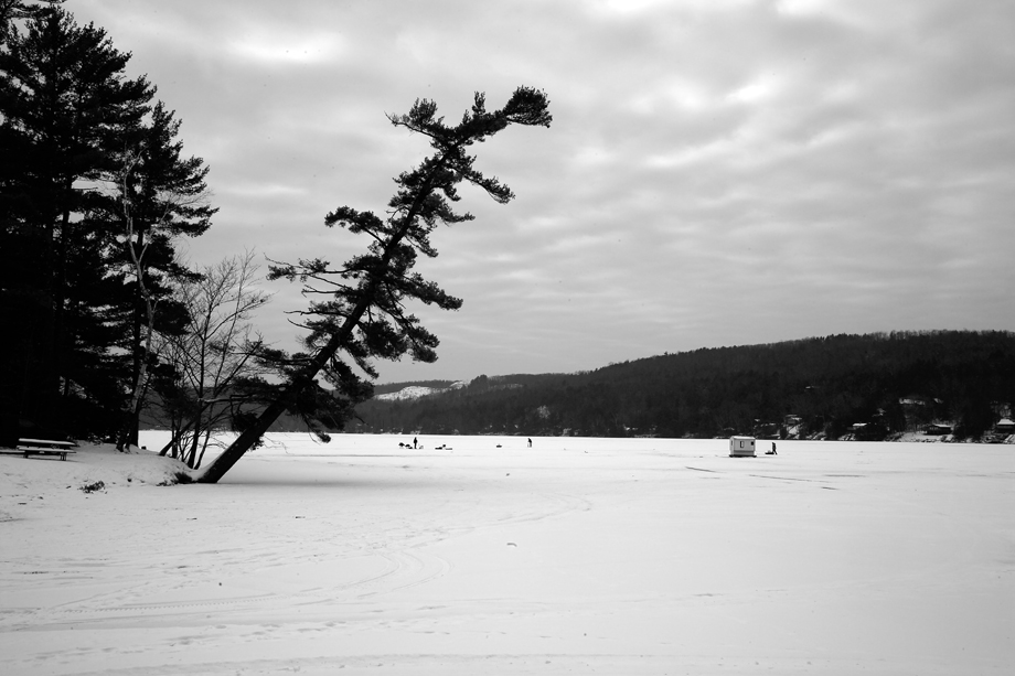 Lake St Catherine State Park Vt Photograph Ice Fishing