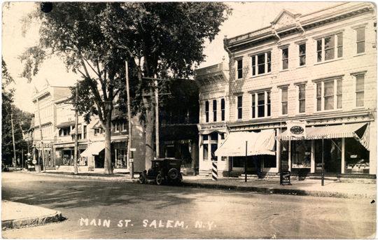 Salem NY, Main Street 1930s Photograph - Main Street ~ Granville Telephone Co., Howe's Ice Cream 1935 - NYSA0025 - Richard Clayton Photography - Cambridge Photo - Vintage Photographs