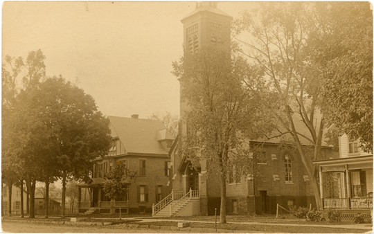 Salem NY, Main Street 1910s Photograph - Holly Cross Church  - NYSA0042 - Richard Clayton Photography - Cambridge Photo - Vintage Photographs