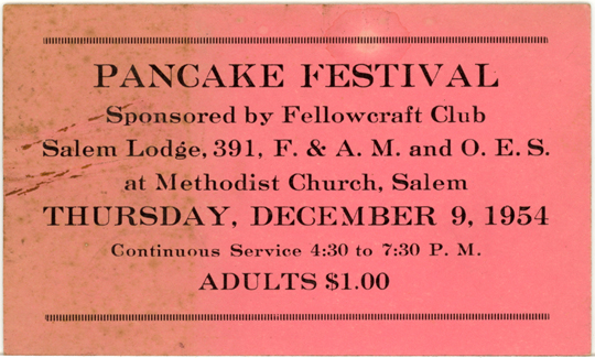 Salem NY, Other 1950s Photograph - Pancake Festival 1954 - NYSA0043 - Richard Clayton Photography - Cambridge Photo - Vintage Photographs