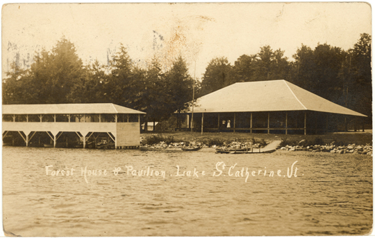 Forest House & Pavilion ~ Lake St. Catherine, VT ~ 1910's