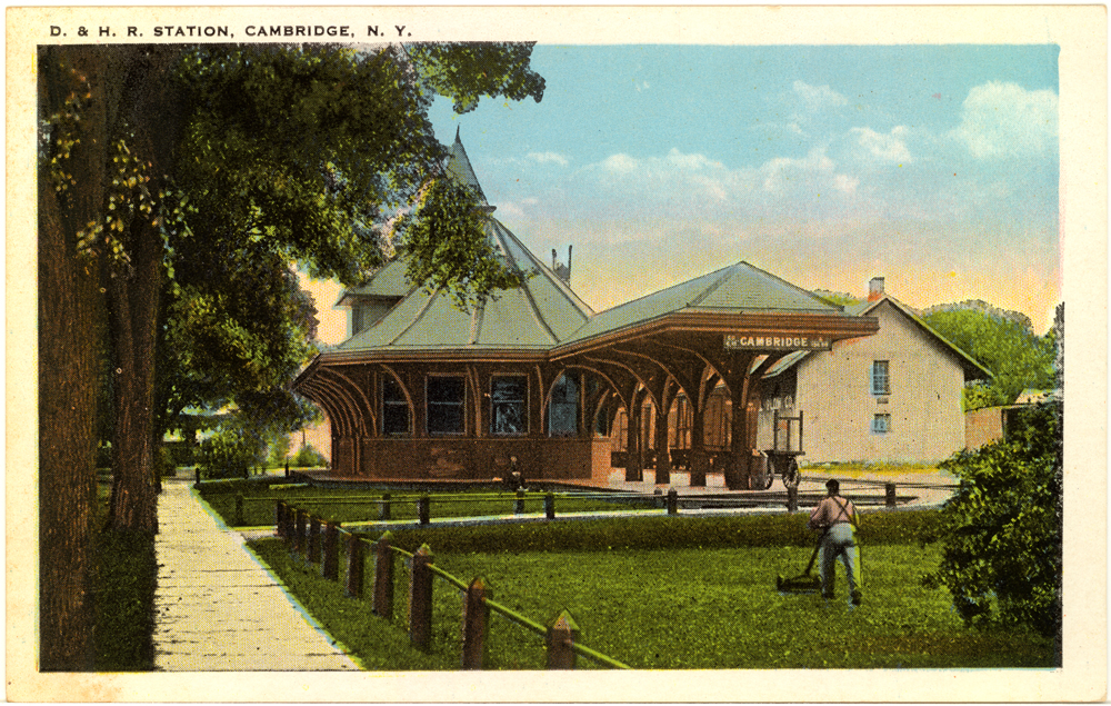 Cambridge,NY ~ D&H Railroad Station ~ 1920s