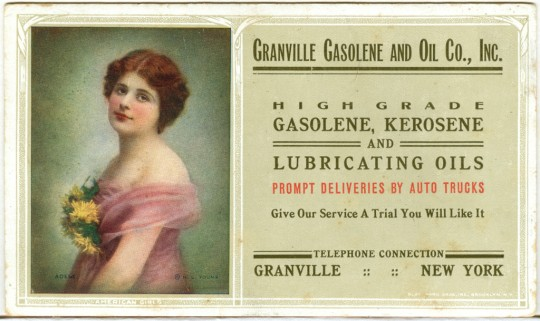 Granville Gasoline and Oil Co. ~ Advertising Card