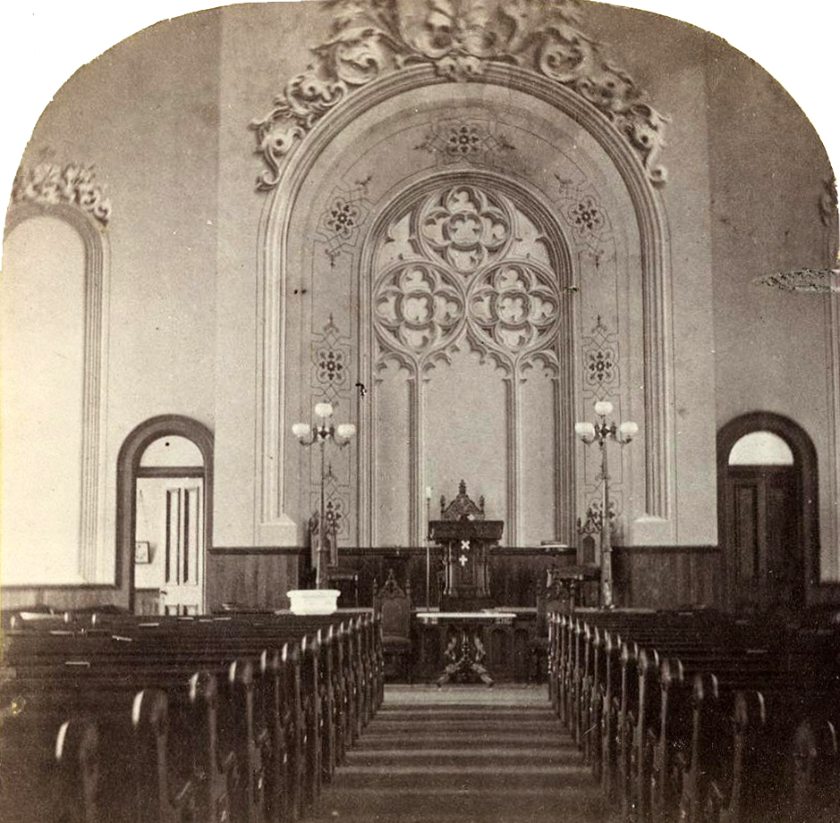 Inside the New First Presbyterian Church ~ Cambridge, NY ~ 1874