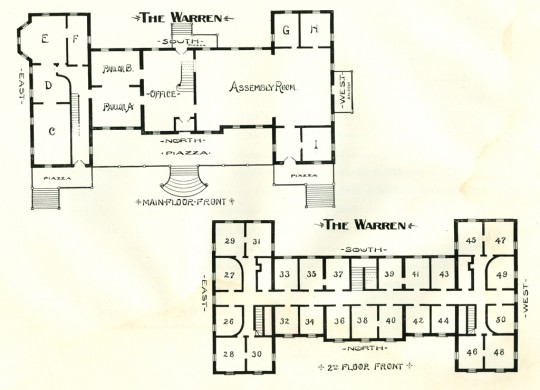 The Warren Hotel ~ North Granville, NY ~ Floor Plan 1